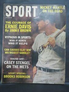1963 Sport Magazine MLB BASEBALL NEW YORK YANKEES MICKEY MANTLE