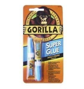 GORILLA SUPER GLUE IMPACT TOUGH FORMULA ADHESIVE 2 X 3G TUBES