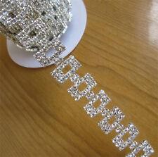 20cm Rhinestone Chain Crystal Trim Ribbon Sparkle Diamante Wedding Bridal Cake
