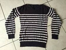 Pull marinière PEPE JEANS taille L 14/16 Ans ou S marine/blanc