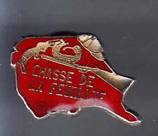 RARE PINS PIN'S .. SPORT CHASSE HUNTING ARME GUN FUSIL TIR LA FEUILLIE 76 ~BC