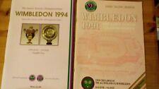 Two Wimbledon Tennis Championships Official Souvenir Programmes (1991 & 94)