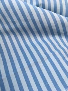 """Crowson, 100% Cotton, Blue Stripe, Curtain & Craft Fabric, 54"""" Wide 5 Meters"""