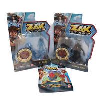 Zak Storm Coins Clovis Skullivar Action Figure  Lot Of 3 BanDai Toy Collect New