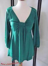Figurbetonte 3/4 Arm Damenblusen, - tops & -shirts aus Viskose