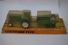 VINTAGE TOOTSIETOY TOOTSIE TOY TRACTOR HITCH UPS FARM GREEN BOX METAL DIECAST