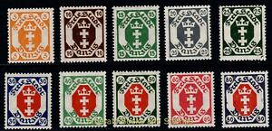 EBS DANZIG 1921 - Small Arms of Danzig in Octagon - Michel 73-82 MNH**