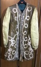 Rare Antique French Gold Threads Brocade Coat Robe Length 40'' Chest 44''