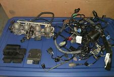 06-11 KAWASAKI NINJA ZX14 ZZR1400 ECU Wiring Harness Throttle Bodies Rectifier