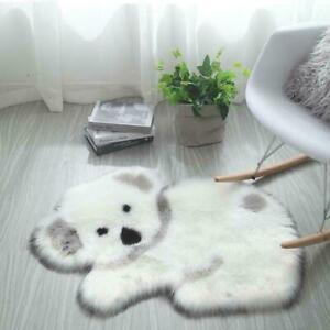 Animal Rug High quality long fluff panda Koala mat Faux fur carpet Living Room B