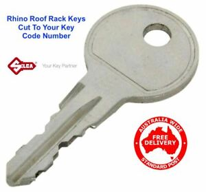 Suits THULE Roof Rack or Pod Lock Key Cut to Code Number FREE POST