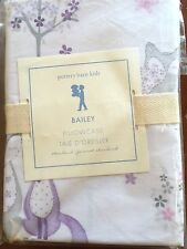 Pottery Barn Kids BAiley Fox Pillowcase GIRL Lavender BEDDING Animal Critter