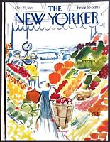 1971 Farmers Market Produce Stand by Arthur Getz Oct 23 New Yorker COVER ONLY