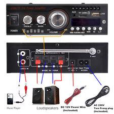 Brand New 200W Mini Bluetooth Amplifier HiFi Stereo AMP Bass MP3 Audio Receiver