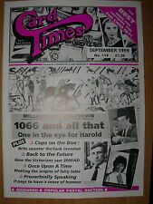 CARD TIMES MAGAZINE FORMERLY CIGARETTE CARD MONTHLY No 114 SEPTEMBER 1999