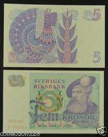 Sweden BANKNOTE 5 Kronor 1978 UNC