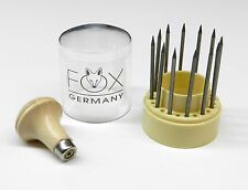 Diamond Stone Setting Beading Tools Jewelry Making 12Pc Set Fox Germany Beaders