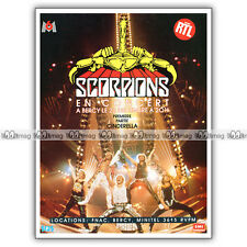 PUB THE SCORPIONS à Bercy - Original Advert / Publicité Concert 1988