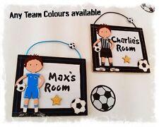 Football Bedroom Door Name Sign Plaque Chelsea Manchester United Leeds Liverpool
