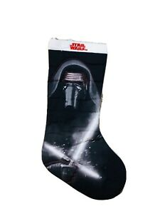 19 In Star War Kylo Ren Black White christmas stocking