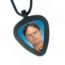 Pickbandz The Office Dwight Schrute Mens or Womens Real Guitar Pick Necklace