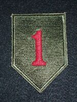 """WW2 US Army 1st Infantry Division """"Big Red One"""" SSI Patch Tunisia, Sicily, D-Day"""