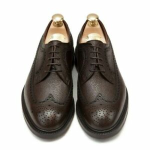 Mens Derby Shoes in Leather Grain Oxford Oxford Hand -