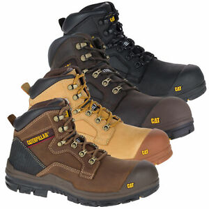 Mens Caterpillar Bearing Steel Toe Midsole S3 WR Safety Work Boots Sizes 6 to 12