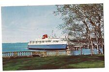 THE M.V. BLUENOSE FERRY Ship Boat Novia Scotia BAR HARBOR Maine ME Postcard