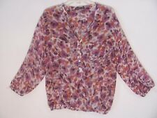 Atmosphere Women's Shirt Top Size 16 Multi-Color 3/4 Sleeve Sheer