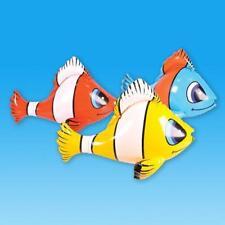 """24"""" dibujos animados Inflable Pez Payaso Novedad Juguete volar Mar Animal Juguete de fiesta en la piscina"""