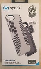 Genuine Speck-Grip iPhone 8 & iPhone 7 Duro Custodia Cover-bianco goccia Testato