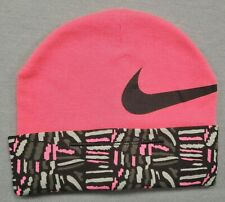 Nike 0-6 Month Baby Girl Hot Pink Design Cuff Infant Cap Hat