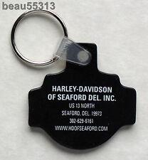 H-D SHOP OF SEAFORD DELAWARE HARLEY DAVIDSON DEALER KEY CHAIN FOB