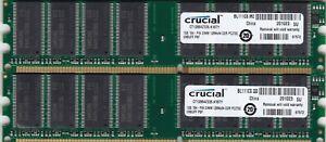 2GB 2x1GB PC-2700 DDR-333 CRUCIAL/SAMSUNG CT12864Z335.K16TY RAM MEMORY KIT DDR1