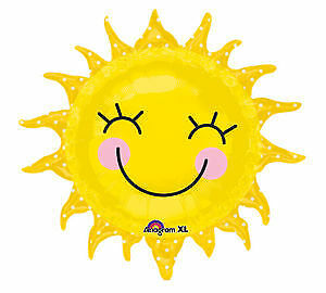 Luau Garden SUNSHINE Sun Smiling Birthday Party Mylar Jumbo Balloon