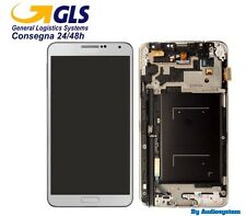 DISPLAY LCD+TOUCH SCREEN +FRAME per SAMSUNG GALAXY NOTE 3 SM-N9005 BIANCO VETRO