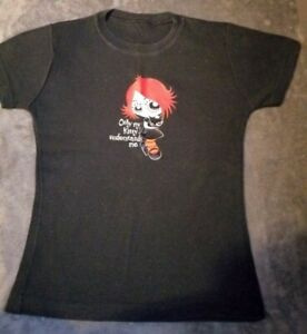 Gothic Punk Ruby Gloom Fitted T-shirt Size Small