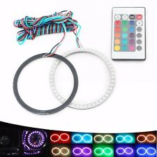 2X 5050 RGB 100MM Multi-color Angel Eyes Halo Ring Bulb Headlight LED Remote kit