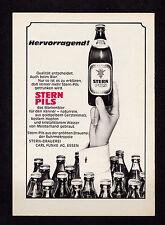 3w02653/ Alte Reklame von 1968 - STERN PILS - Stern-Brauerei Carl Funke - Essen