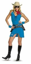 Sexy Sassy Lone Ranger Blue Adult Halloween Costume For Women - Size Medium