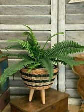 Boho Style Basket Planter Indoor Flower Plant Pot Plants Bulbs Herbs Container