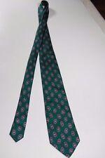 """Ferrell Reed Nordstrom Green Emerald Geometric 100% Silk Tie Men 58.5"""" L 3.75"""" W"""