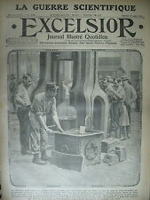 WW1 N° 1740 SOLDAT FORGERON LA GUERRE SCIENTIFIQUE CANON JOURNAL EXCELSIOR 1915