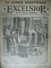 WW1 N° 1740 SOLDAT FORGERON LA GUERRE SCIENTIFIQUE CANON JOURNAL EXCELSIOR 1915