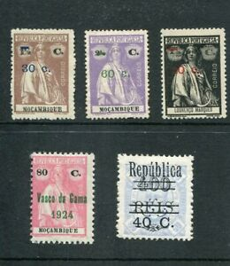 PORTUGAL  Mocambique 1921-25 Sobretaxa incl. on 1 Lourenco Marques MH/MNG