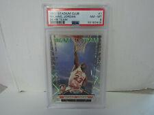 PSA 8 1992-93 Topps Stadium Club Michael Jordan Beam Team Chicago Bulls