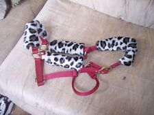 NEW---HORSE HALTER TUBES---Acrylic Fleece---Prevents Halter Rubs---White Leopard