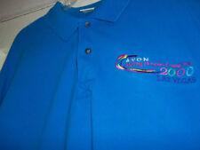 Avon 2000 Las Vegas Men's Casual Polo Shirt XL Blue