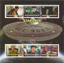 Star Trek vaisseau Enterprise Kirk Spock Classic Sci Fi Film neuf sans charnière STAMP SHEET